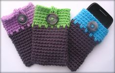Ravelry: Any Size Cell Phone Cozy pattern by Debby English