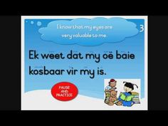 Learn to read, understand and pronounce Afrikaans words and sentences. This is a free Afrikaans reading course for primary school students or anybody who wis. Quotes Dream, Life Quotes Love, Robert Kiyosaki, Afrikaans, Tony Robbins, Learn To Read, Primary School, Reading, My Eyes