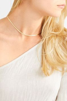 Loren Stewart - Herringbone 9-karat Gold Necklace