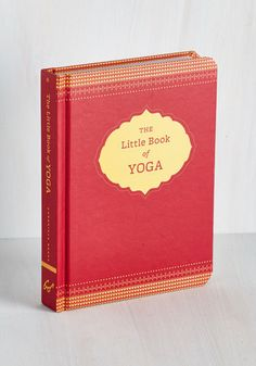 The Little Book of Yoga. Whether wondering where to begin or looking to refresh your roots, youll find a peaceful sense of guidance in this little hardback by Chronicle Books. #red #modcloth