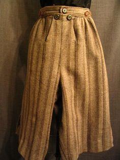 Breeches, men's. 18th Century grey/tan wool.