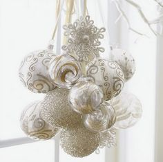 Hanging bunch of ornaments