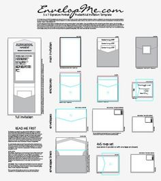 Ilrator Template For Diy Pocketfold Invites Complete With All The Guides And Sizes