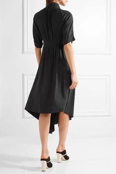 Adam Lippes - Asymmetric Wrap-effect Crepe Midi Dress - Black - US10