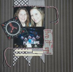 Scrap Queen - The Banner background comes from the Lovely Floral Cricut Cartridge.