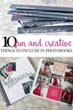 If you create family yearbooks, you won't want to miss this post – 10 fun and creative things to include in photobooks! Family Yearbook, Family Album, Yearbook Theme, Yearbook Layouts, Yearbook Design, Hello Photo, Foto Fun, Creative Things, Fun Things