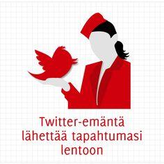 Twitter-emäntä lähettää tapahtumasi lentoon