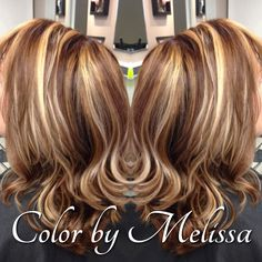 Deepen up your base color and compliment your hilights with browns & copper lowlights for the fall!  Color by Melissa Lovenbury  www.outlookshairsalon.com