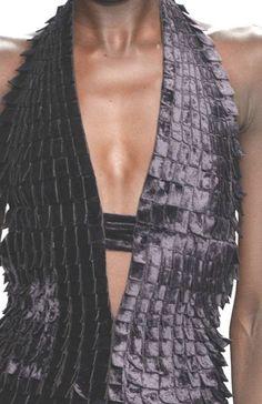 From Paris womenswear catwalks, beautiful details and inspirations.  From top: John Galliano, Leonard.                                  ...