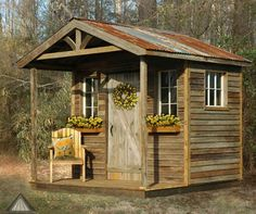 Simple Potting Shed renovated ideas for your backyard outdoor space Garden Shed Ideas Design No. Outdoor Storage Sheds, Outdoor Sheds, Shed Storage, Rustic Outdoor, Rustic Shed, Wood Shed, Shed With Porch, Home And Garden Store, Small Sheds