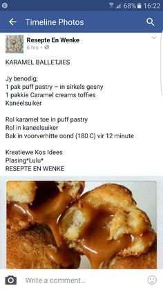 Karamel balletjies Braai Recipes, Donut Recipes, Baking Recipes, Dessert Recipes, Cookie Desserts, Cookie Bars, Different Recipes, Other Recipes, Sweet Recipes