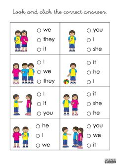 Personal pronouns online exercise for 2º