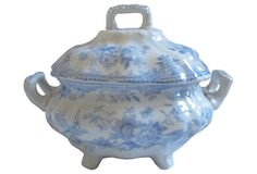 Transferware  Asiatic Pheasant Tureen on OneKingsLane.com