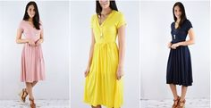 The heat of summer is upon us!! The less layers I have to wear the better! Grab this solid swing style dress for only $21.99. It will keep you cool and give you coverage in all the right spots!