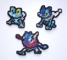Froakie, Frogadier, Greninja: Pokemon Plastic Canvas Sprites by UWorldsSpriteShop on Etsy