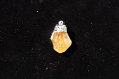 Citrine Pendant with Silver Foiling and Bail by FairyFresh on Etsy, $25.00
