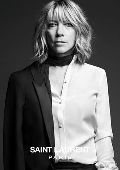 I actually love that Slimane chose Kim Gordon to rep the line.  She is amazing...