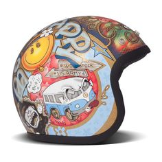 DMD Vintage Helmet - Woodstock | Open Face Motorcycle Helmets | FREE UK delivery - The Cafe Racer
