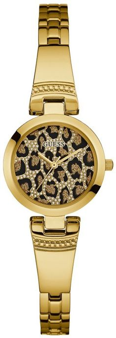 GUESS Women's Gold-Tone Animal-Print Petite Watch. Watch fashions. I'm an affiliate marketer. When you click on a link or buy from the retailer, I earn a commission.
