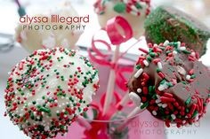 I made 50 of these for a Christmas Party with Josh's linecrew. With all this snow the party was cancelled. I have definitely had my fair share of them this weekend. Cheesecake Pops, Christmas Cheesecake, Party, Desserts, Food, Tailgate Desserts, Deserts, Essen, Parties