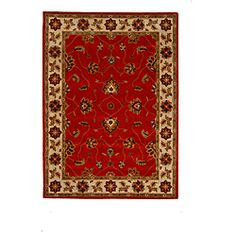 @Overstock - This beautiful rug was hand-tufted with 100-percent wool and herbal-washed for utmost delicacy. The 8 by 11-foot area rug featuring a traditional oriental design will certainly add the perfect touch of color and style to any room.http://www.overstock.com/Home-Garden/Hand-Tufted-Tempest-Red-Ivory-Area-Rug-8-x-11/6431438/product.html?CID=214117 $417.99