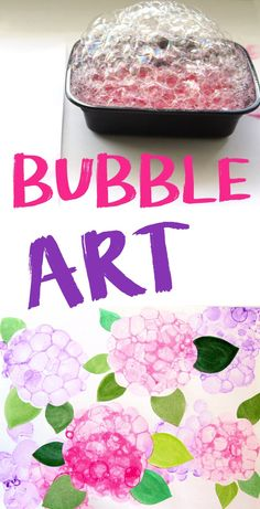 Easy Art Project For Kids, Teens & Adults! (Bubble Art)