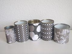Klip og kogekunst: DIY - Lav vase/blyantholder af gamle konservesdåser