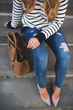 The Classic Striped Turtleneck | The Teacher Diva: a Dallas Fashion Blog featuring Beauty & Lifestyle