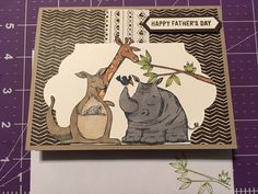 Baby Cards, Kids Cards, Paper Art, Paper Crafts, Happy Fathers Day, Stampin Up Cards, Stamping, Thinking Of You, Card Making