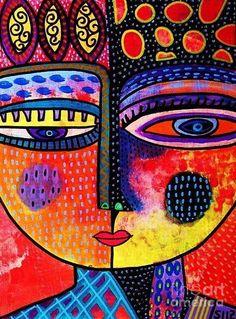 Femmes Affiche comportant la peinture Feu Volcan Goddess par Sandra Silberzweig