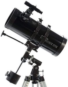 Celestron PowerSeeker telescopes are a great way to open up the wonders of the Universe to the aspiring astronomer. The PowerSeeker series is designed to give the first-time telescope user the perfect combination of quality, value, features and power Celestron Telescopes, Distance Focale, Reflecting Telescope, Telescopes For Sale, Thing 1, Aperture, Binoculars, Galaxies, Tecnologia