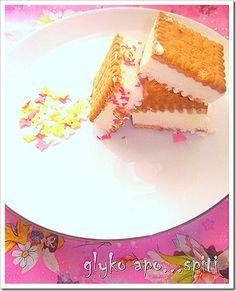 Παγωμένα σαντουιτσάκια Cupcake Cakes, Cupcakes, Frozen Treats, My Recipes, Cheesecake, Ice Cream, Sugar, Bread, Desserts