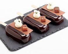 Stunning Valrhona Manjari 64% chocolate popscicle by Pastry Chef Antonio Bachour!