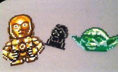 C3PO, Darth Wader, Yoda ahama perler beads