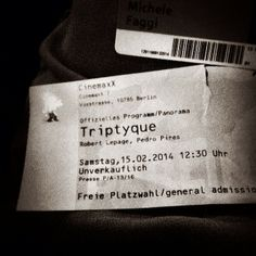Triptyque - Robert Lepage - press screening