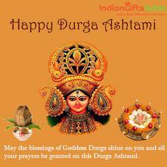 On this Durga Asthami May Deity Durga shower the glory in your life and bless with more positivity in your life. wishing all of you Happy Durga Ashtami! Happy Durga Puja, Durga Maa, Navratri Ashtami, Nav Durga Image, Durga Images, Lord Shiva Family, Kali Goddess, Indian Gods