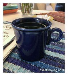 Black coffee in Cobalt Fiesta® Dinnerware Mug Homer Laughlin, Black Coffee, Cobalt Blue, Dinnerware, Texas, China, Dishes, Mugs, Cooking