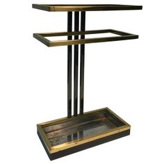 Modern Umbrella Stand in Chrome and Brass 1