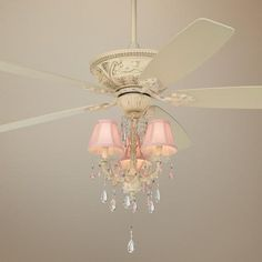 Casa Vieja Mentego Pretty In Pink Light Kit Ceiling Fan