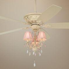 """60"""" Casa Vieja Mentego Pretty In Pink Light Kit Ceiling Fan"""