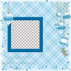 """Layout QP 9D.....Quick Page, Blue, Digital Scrapbooking, Christmas Time Collection, 12"""" x 12"""", 300 dpi, PNG File Format"""