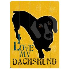 Take a look at this Artehouse 'I Love My Dachshund' Personalized Wall Plaque by For the Love of Dogs Collection on today! I Love Dogs, Puppy Love, Miniature Dachshunds, Dachshund Love, Daschund, Dachshund Puppies, Chihuahua, Weenie Dogs, Joss And Main