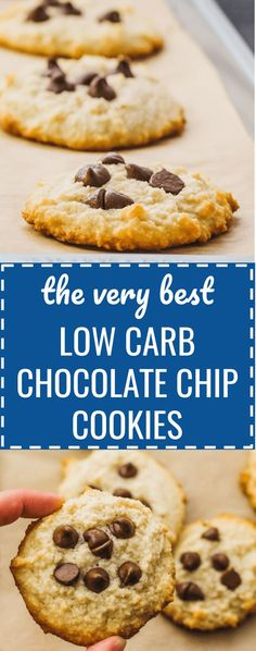 Best low carb chocolate chip cookies - Healthy, keto friendly, and easy. soft / without brown sugar / sugar free / no sugar / diet / atkins / induction / meals / recipes / easy / dinner / lunch / foods / healthy / dessert / chewy / home made recipe / from scratch / small batch / crispy / softest / gluten free / perfect / fluffy / simple / classic / paleo / thin / quick / healthier / flourless / almond flour / for two / crunchy / christmas / how to make #cookies #chocolate #lowcarb