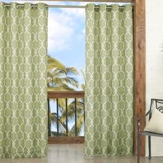 Parasol Totten Key Trellis 84-Inch Window Curtain Panel - BedBathandBeyond.com