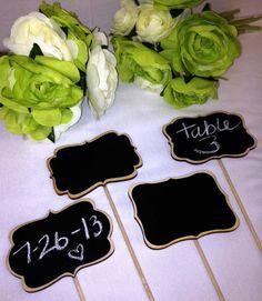 Mini Chalkboard Signs Chalkboards on Sticks  por BradensGrace, $14,00