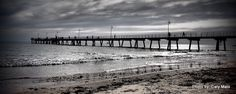 Glenelg Jetty, we call them docks, my friends laughed!
