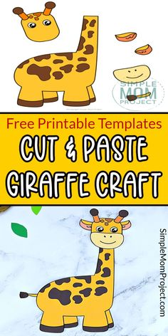 Here;s the most fun your toddlers & preschoolers can have as they build their own Giraffe craft. These free printable Giraffe craft templates make cute baby giraffes and also a fun way to learn the letter G. So grab your free printable giraffe templates and share some creative craft activities together today! Safari Animal Crafts, Jungle Crafts, Giraffe Crafts, Zoo Crafts, Animal Crafts For Kids, Fun Diy Crafts, Crafts For Kids To Make, Printable Crafts, Free Printable