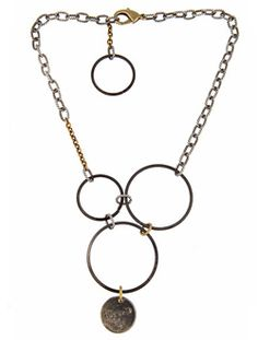 It's called Tokyo necklace, but it rocks the London Rock look just the same.  $60  #fashion Love the blackened metal on this one!