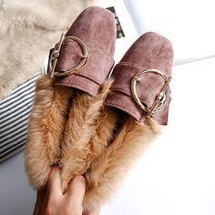 fcce47626e0 Женская обувь  зимние без каблука дамские Ботильоны Плюс Размеры  Повседневное теплые зимние сапоги модная меховая обувь женские ботинки из  замши Новый