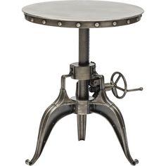 Element Crank Side Table, Nickel. Modern IndustrialVintage IndustrialIndustrial  RevolutionNickel ...